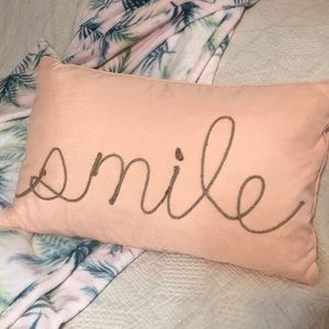Other - Rectangle Smile Decor Pillow